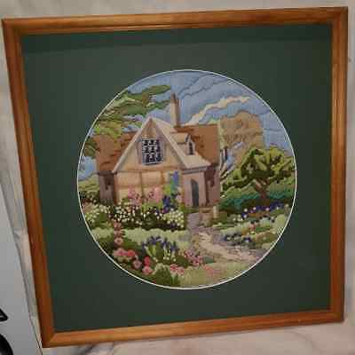 Lovely Vintage Completed Longstitch Pictures Framed - Choice of 3.