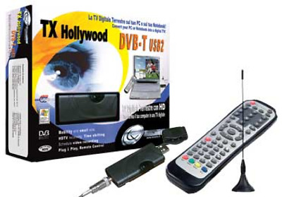 Scheda TV USB 2 TX Hollywood DVB-T Digitale Terrestre con HD
