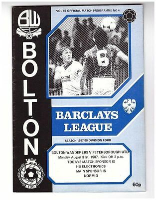 Bolton v Peterbrough 87/88