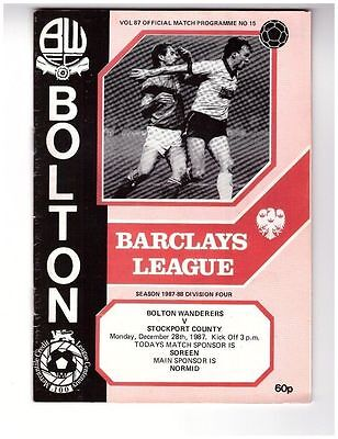 Bolton v Stockport 87/88