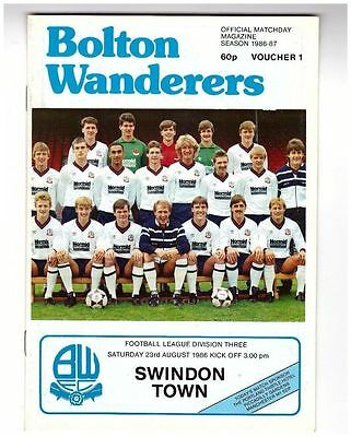 Bolton v Swindon 86/87