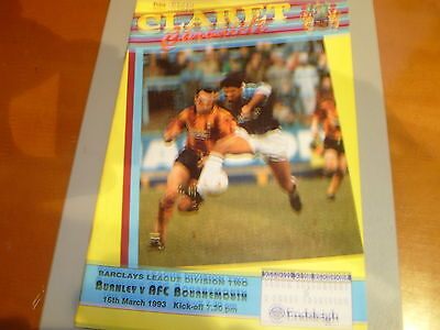 Burnley v Bournemouth 92/93