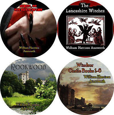 Lot of 4 by WILLIAM HARRISON AINSWORTH (READ) Mp3 CD Audiobooks GOTHIC