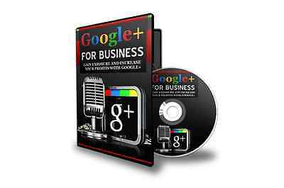 Google Plus Business Marketing Training Course CD/USB. Gain Exposure + Profits