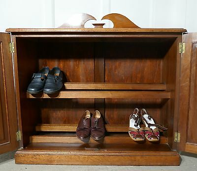 19th Century Blonde Mahogany Hall or Shoe Cupboard