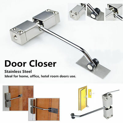 Adjustable Surface Mounted Automatic Spring Closing Door Closer Stainless Steel