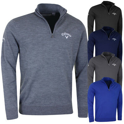 Callaway Golf 2017 Mens Ribbed LC Logo Merino Sweater Jumper Pullover