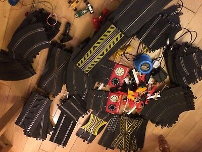 Scalextric Track - Job Lot of track and accessories, power pack, controllers etc
