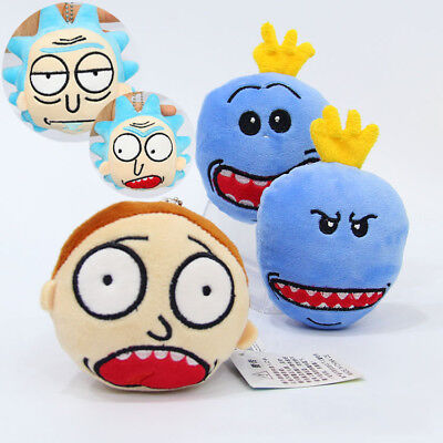 Rick and Morty Keyring Pendant Keychain Handbag Hanging drop Bag Decor Toys