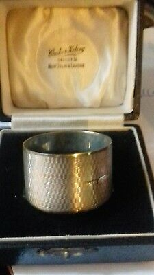 Superb SOLID SILVER ~ Napkin RING  BOXED