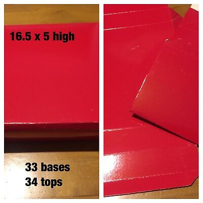 Red Flat Pack Boxes X 33