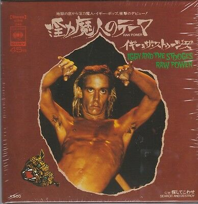 "7"" BOX *** IGGY & STOOGES **** RAW POWER Jap. Promo w/ T-SHIRT"