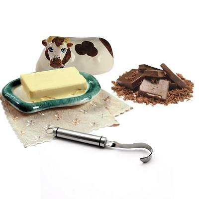 Cheese Grater Chocolate Butter Curler Scraper Planer Cake Decoration Tool I6H7