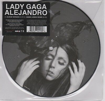 "7 "" Picture Disc *** Lady Gaga ***  Alejandro"