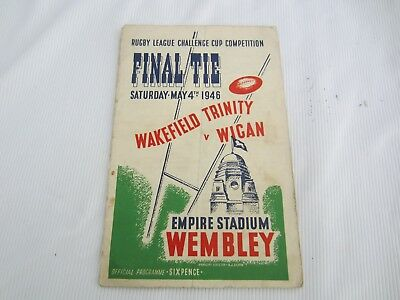 1946 RUGBY LEAGUE CUP FINAL WAKEFIELD TRINITY v WIGAN