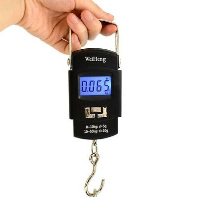 Portable 50kg 10g Hanging LCD Digital Luggage Electronic Hook Pocket Scale