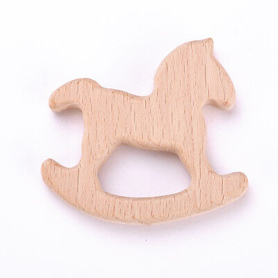 Hot 1PC Holder Eco-Friendly Wooden Teether Organic Baby Teethers Toys New