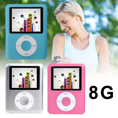 "Slim 8GB 1.8"" LCD MP4 Media Player MP3 Player Video Game Movie FM Radio Voice AU"