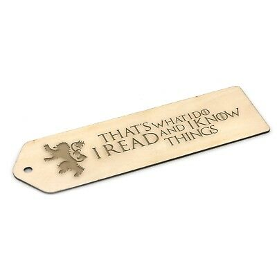 Game of Thrones  Wooden Bookmark Gift
