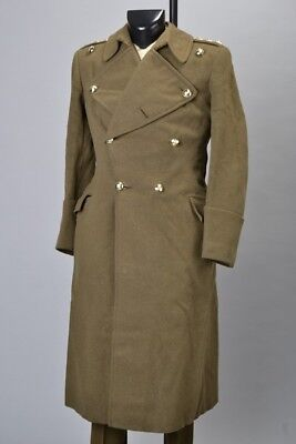 British Army Officers' WW2 Era Great Coat With Later REME Buttons. BOX