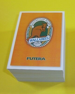 1995 Futera Rugby Union complete base set 110 trading cards - mint