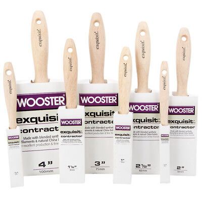 Wooster Exquisite Contractor Paint Brush - Pure Synthetic Bristle -Various Sizes