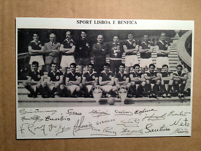 Benfica 1962/1963 Squad Printed Autographs
