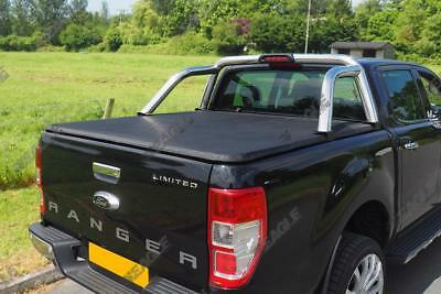Hard Folding Tonneau Cover - Ford Ranger T6 Double Cab Bed Cover 2012+