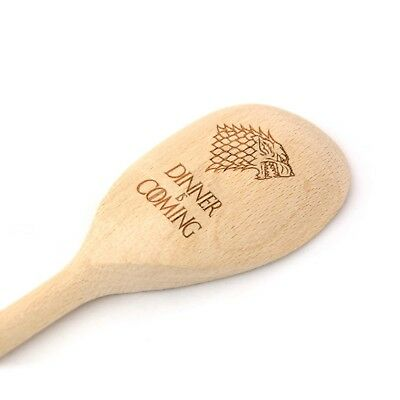 Game of Thrones Gift  Dinner is Coming  Wooden Baking Spoon  Engraved Novelty