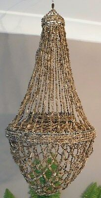 Shell Chandelier Large Bowl Brown 30cm Diameter 70cm Drop NEW
