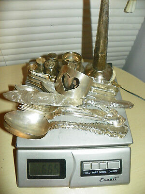 Antique/Vintage Sterling Silver Silverware Mix lot- 665 grams