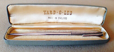 Solid Silver propelling pencil Yard O Led 1960