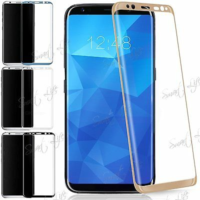 100% Genuine Full Curved 3D Tempered Glass Screen Protector For Galaxy S8, S8 +
