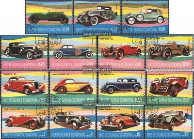 Equatorial-Guinea 1095-1110 (complete issue) used 1977 Old Cars