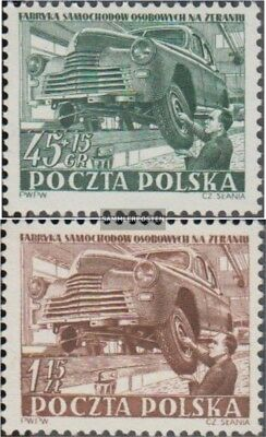Poland 787-788 (complete issue) used 1952 Automobile in zeran
