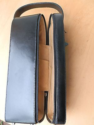Leather Wine Carrier-Exc Condition,suede Lined.