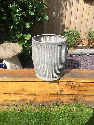 Vintage Dolly Tub  Tin Bath  Galvanised Tub  Bath