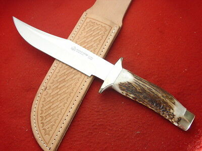 "Puma Made in Spain Scout 813900 Stag 11"" Fixed Blade 2005 Sheath Knife MINT"