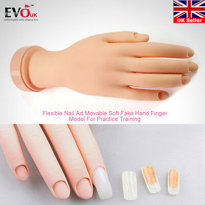Flectional Nail Art Manicure Practice Hand Model Training Display