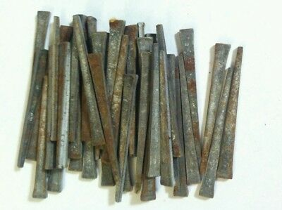 "Lot of 50 Vintage Square Cut Nails 2 1/4"" Old Rusty Tools Hardware Iron"