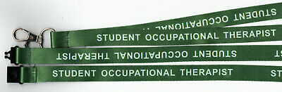 1 STUDENT OCCUPATIONAL THERAPIST Printed Safety Strap Lanyard: FREE UK P&P