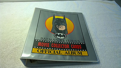 Dynamic Marketing NZ Australia Batman Returns Full Card Sticker Set Binder Lotb