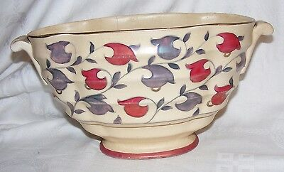 Vintage Art Deco Charlotte Rhead For Crown Ducal 2 Handled Bowl Pattern 6904