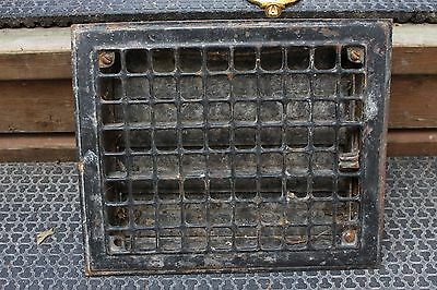 Vintage Ornate Labrynth Metal Floor Heating Vent Grate Hardware Home Squares