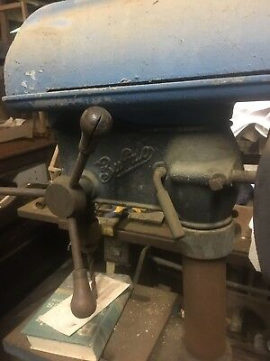 Buffalo 15 Drill Press. Worked When Put Away For Storage. Vintage Antique Drill