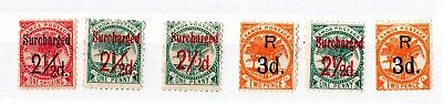 Samoa 1893/95 Surcharged 6 Mint Values MH X7925