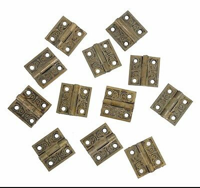 antique cast brass Eastlake hinges - quantity available