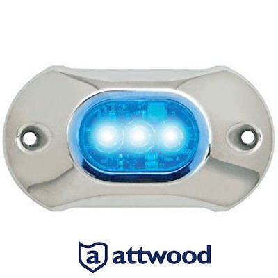 Promo : 65Uw03B-7 Eclairage Led Bleu Etanche Attwood Marine / Underwater Light