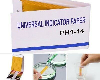 80PACK pH Test Strips Universal Indicator Paper pH 1-14 Water Soil Urine Quality