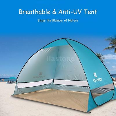 Outdoor Instant Pop-up Portable Beach Tent Anti UV Shelter Camping Fishing C2B9